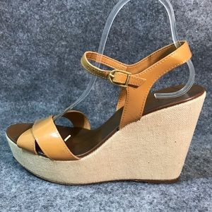 J Crew made in Italy strapped wedge sandal